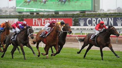 Charlie Boy kicks clear to win the Group 2 Danehill Stakes