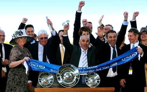 Miss Independent's winning owners after Triple Crown's first Inglis Classic victory