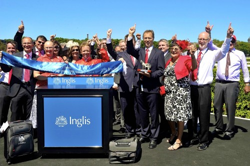 Peggy Jean's winning owners after Triple Crown's third Inglis Classic victory